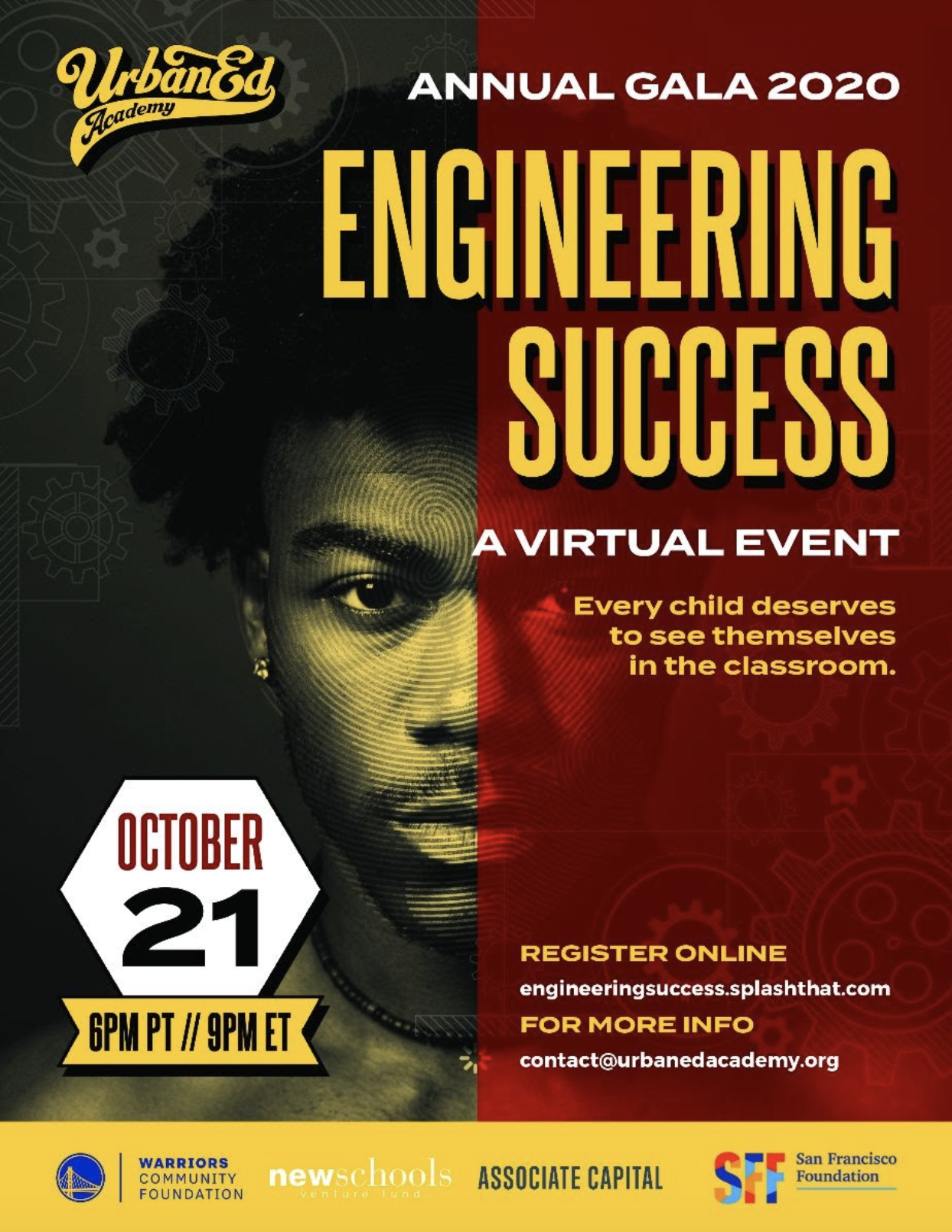 Join us for our 2020 Annual Gala - Engineering Success, A Virtual Event on October 21, 2020 at 6 PM Pacific Time